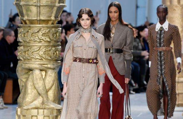 Kaia Gerber and models on the catwalkChloe show, Runway, Fall Winter 2020, Paris Fashion Week, France - 27 Feb 2020